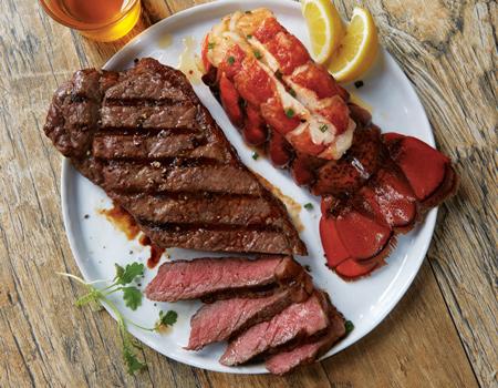 Strip Steak and Lobster Surf & Turf